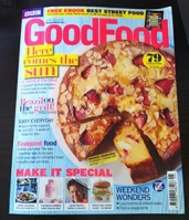 BBC Good Food mag June 2014 with the original recipe cake
