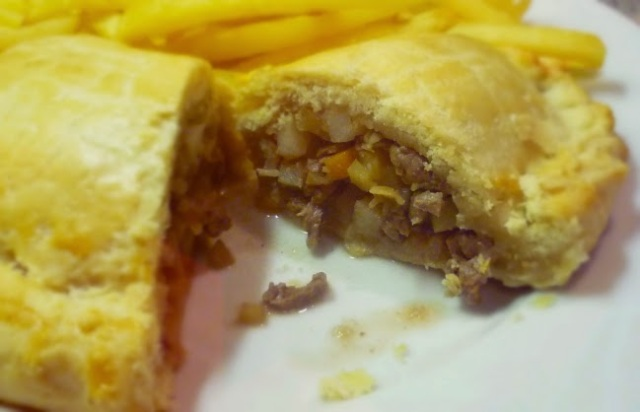 Beef, veg and cheddar pasties