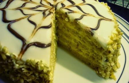 Esterhazy torte - daquoise layer cake
