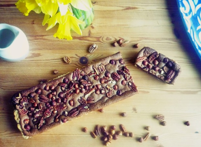 Chocolate and nut tart