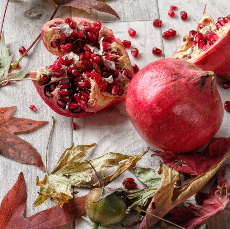 Pomegrantates - on the recipe for pomegranate, strawberry and plum curd Ink Sugar Spice