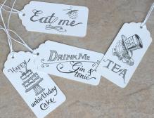 Alice in Wonderland food tags
