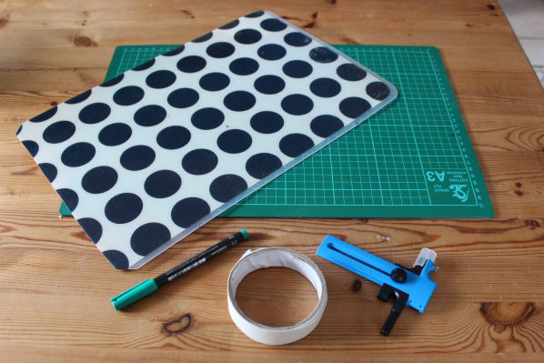 Equipment needed for making tuile templates