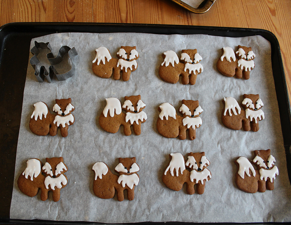 Gingerbread fox biscuits and home made cutter