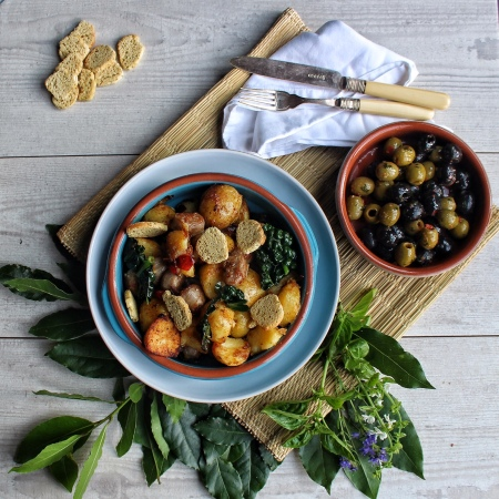 Ink Sugar Spice blog - paprika saute potatoes with Italian sausage