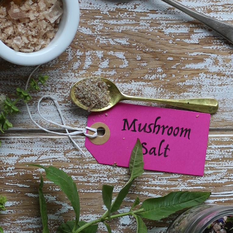 Mushroom salt mix on Ink Sugar Spice