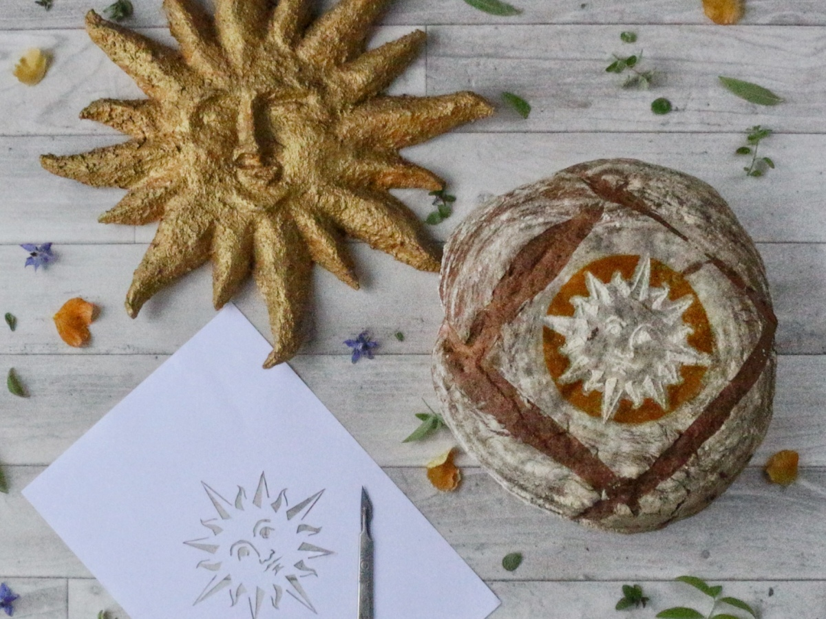 Beer bread recipe with stencil and downloadable pdf to cut out - ink sugar spice