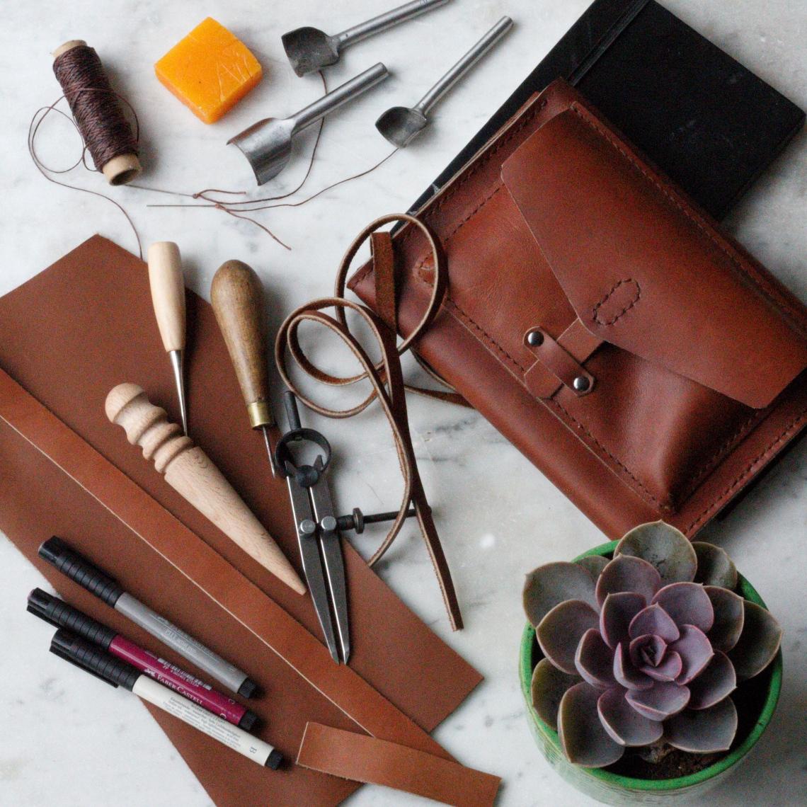 leather moleskin artpad wallet handmade by Ink Sugar Spice