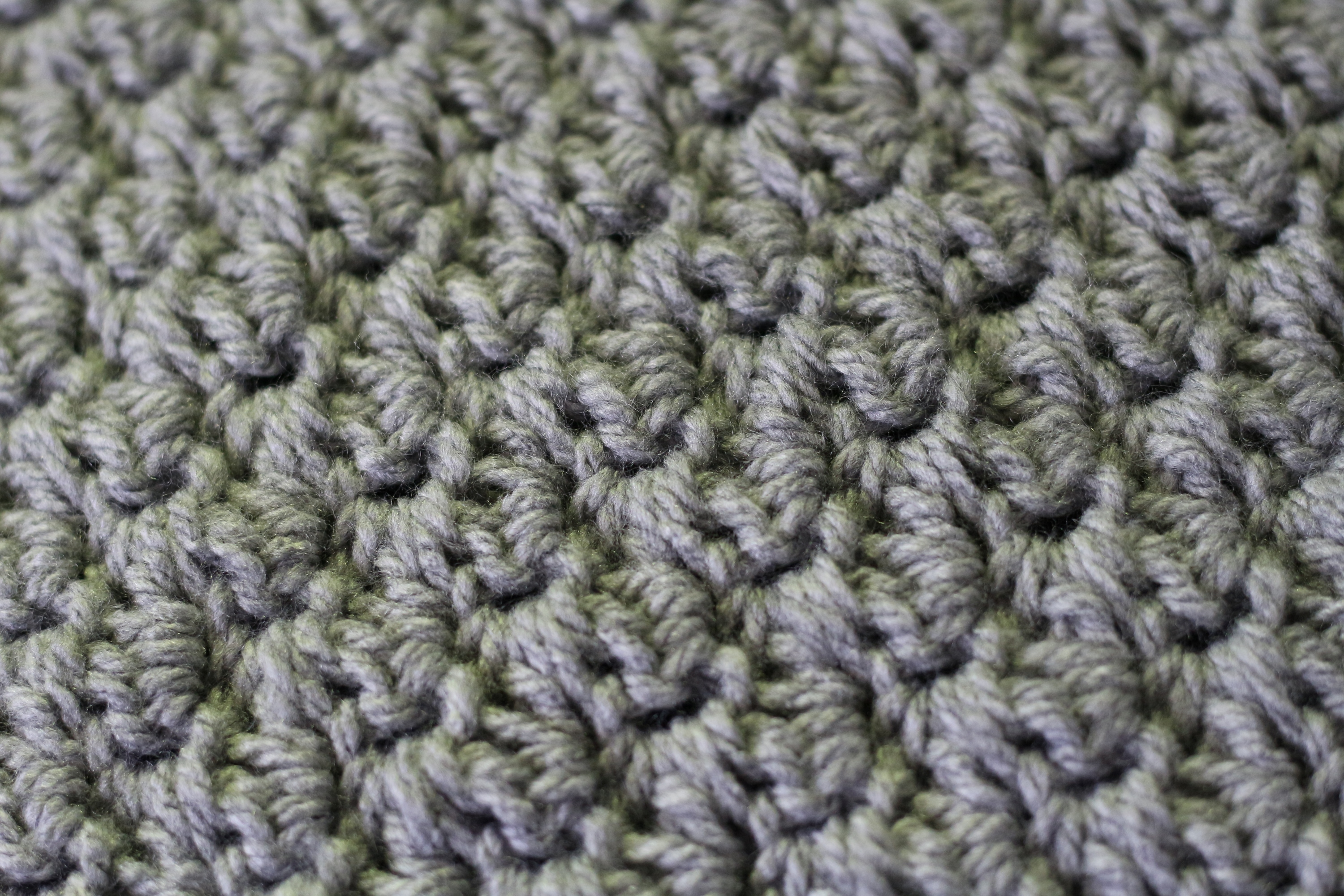 Close up of the crochet throw | Ink Sugar Spice
