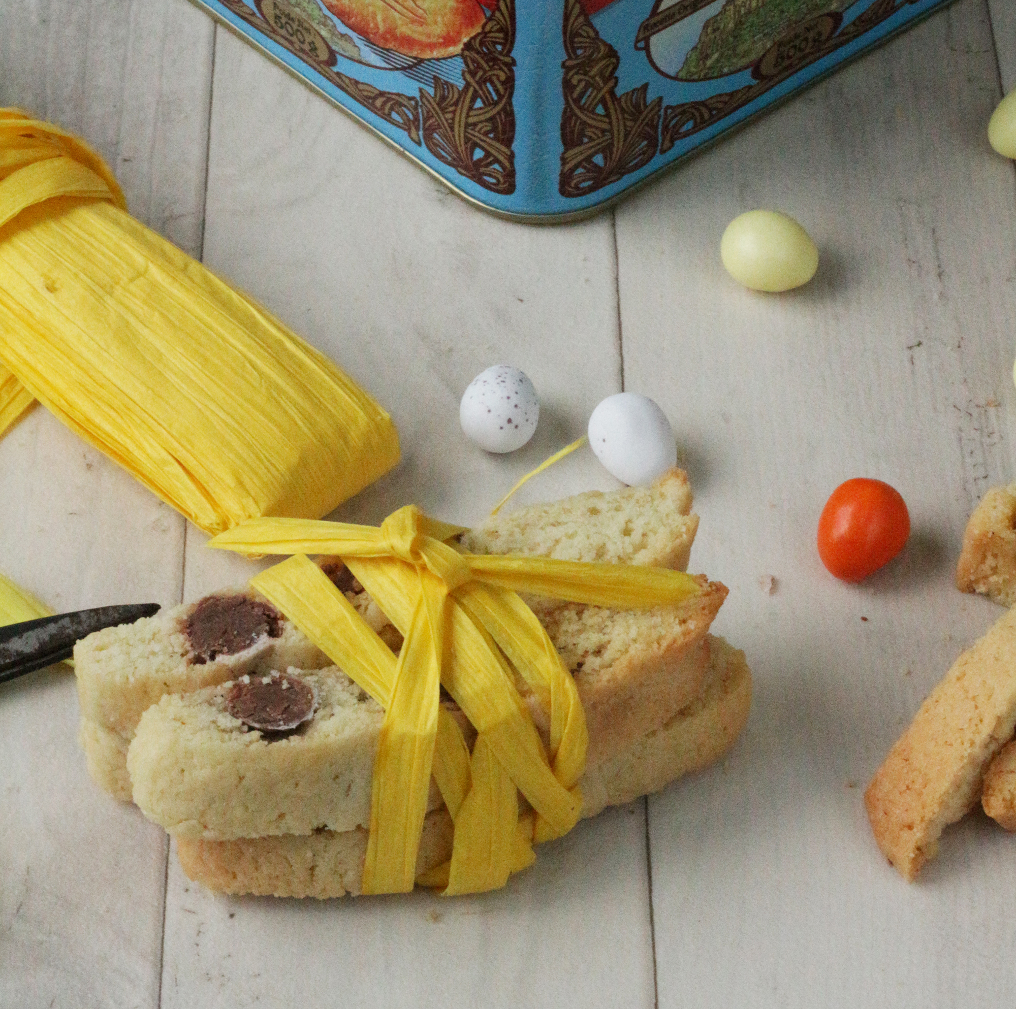 Mini Easter egg biscotti biscuit recipe - Ink Sugar Spice