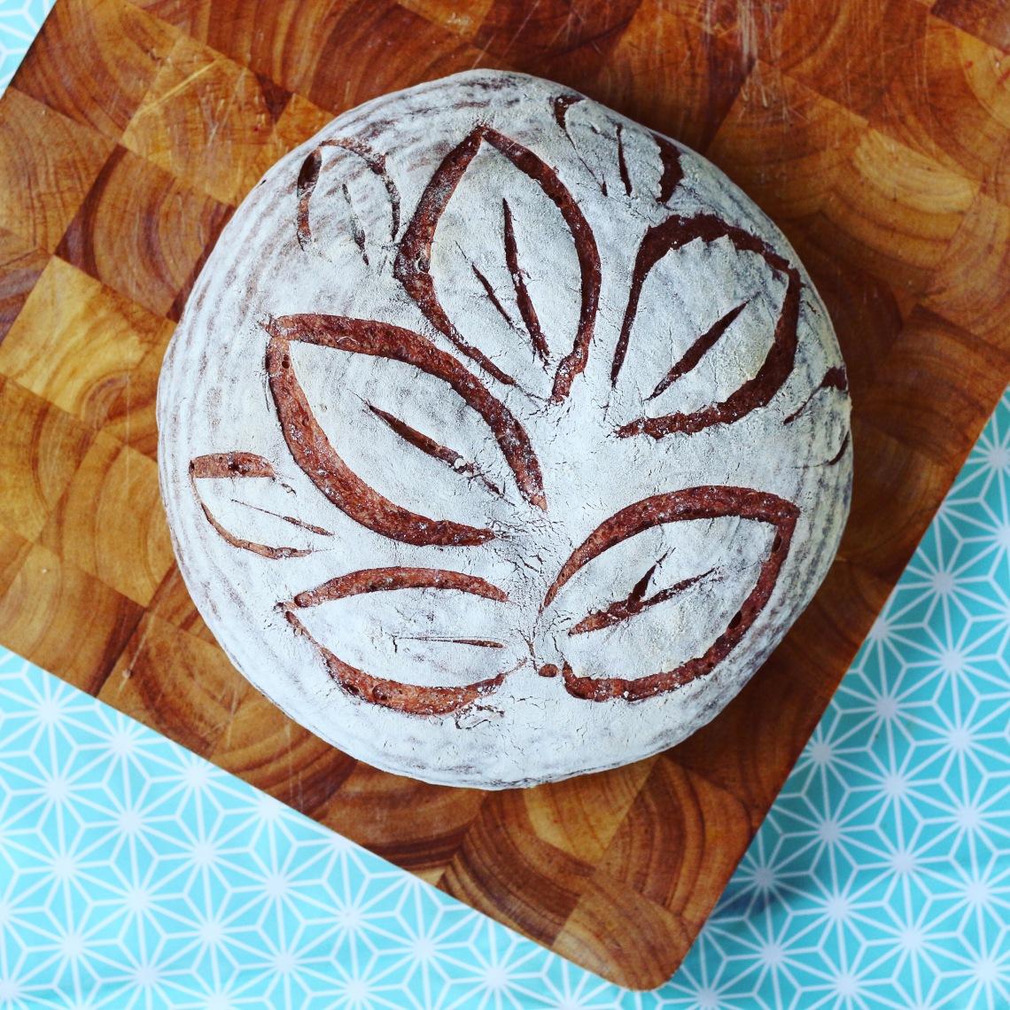 scored loaf - copyright image Lynn Clark - inksugarspice