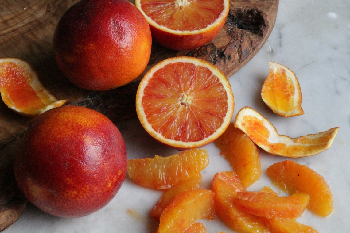 blood oranges - copyright image Lynn Clark - inksugarspice