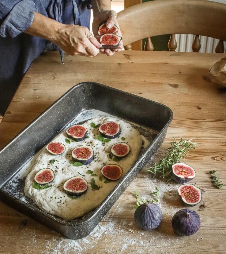 Fig focaccia bread recipe by InkSugarSpice
